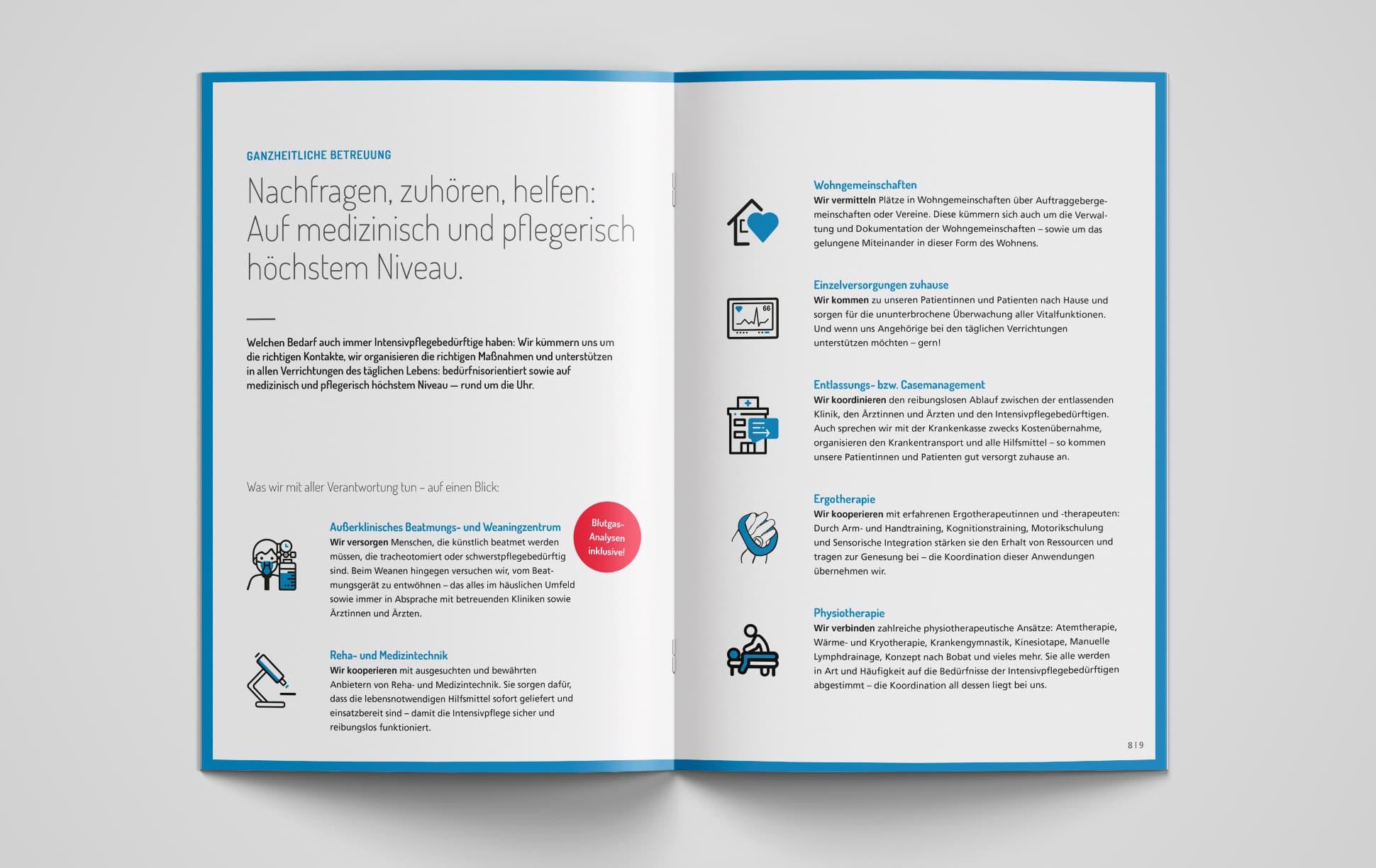 Imagebroschüre der intensivLEBEN GmbH